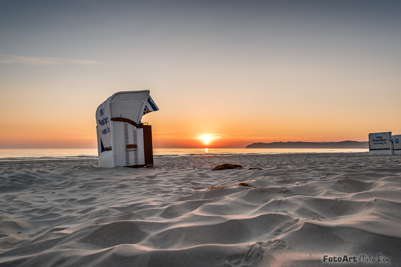Strandkorb sonnenaufgang  Bild-Nr. 1499 - Sonnenaufgang Binz Strand