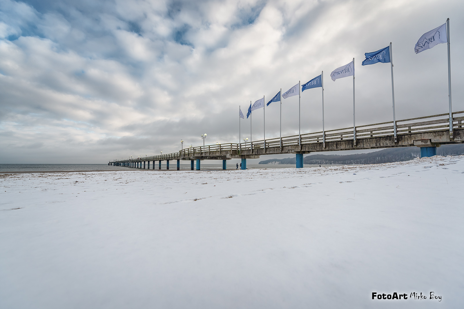 Winter Schnee in Binz